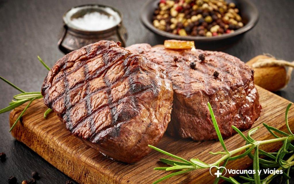 Enfermedades por consumo de carne