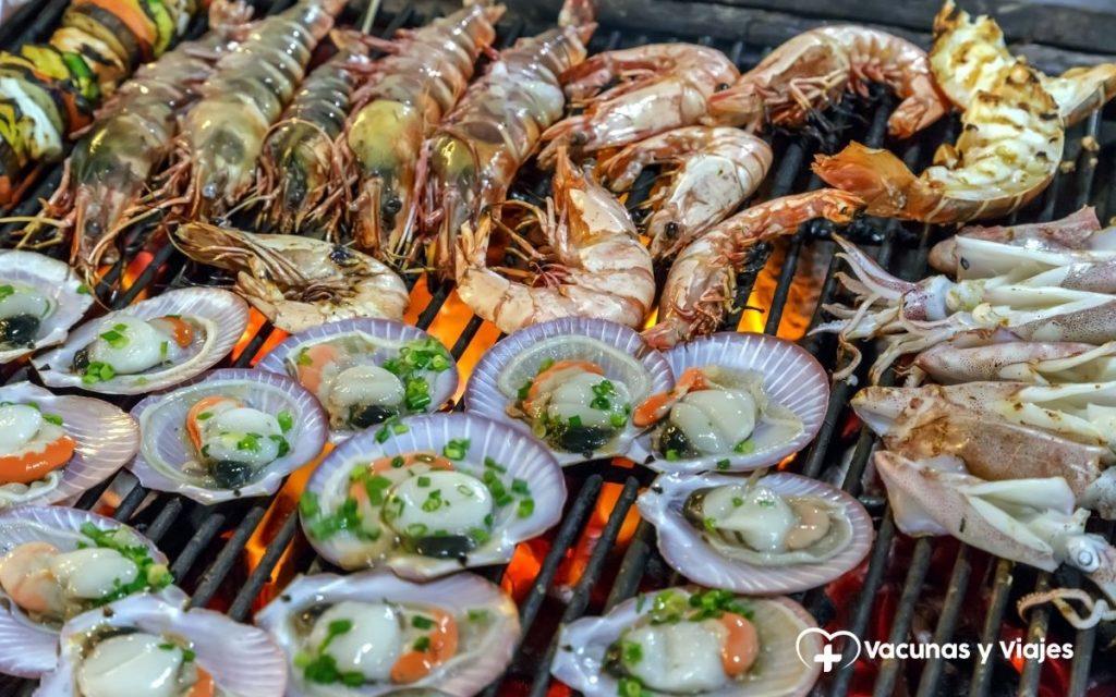 Enfermedades por consumo de marisco